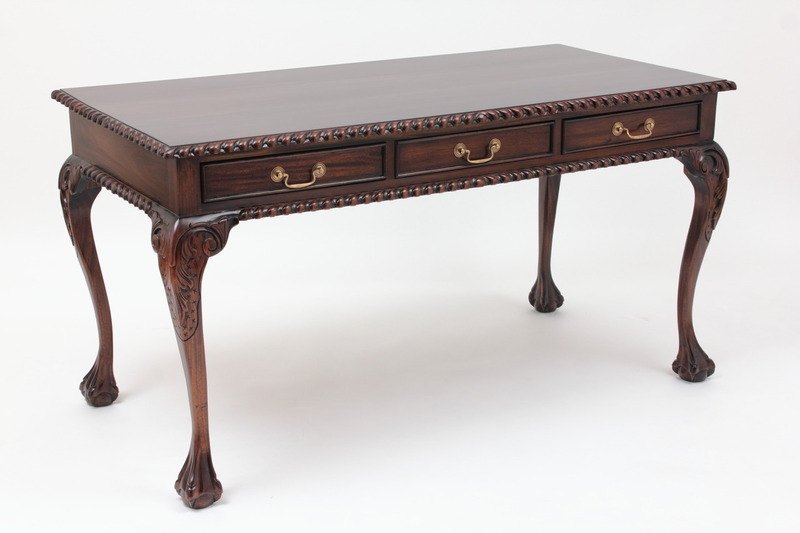 Chippendale Three Drawer Writing Desk