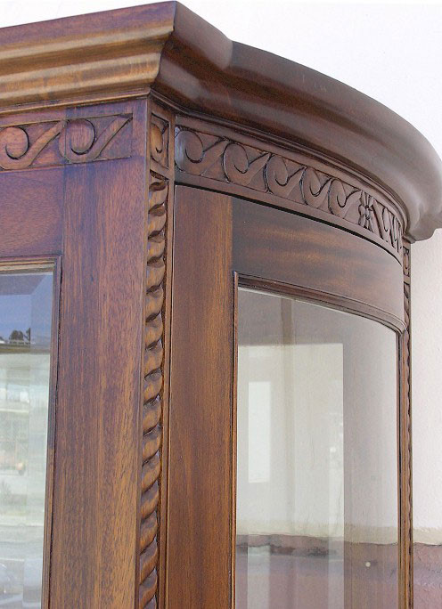 Barley Twist Display Cabinet Laurel Crown Furniture