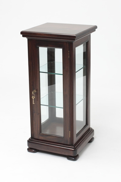Slender Mahogany Display Cabinet