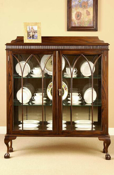 Chippendale China Cabinet made of solid mahogany wood