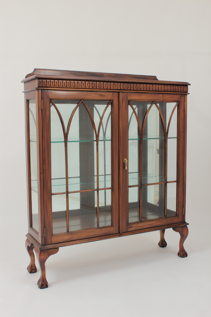 Small Chippendale China Cabinet