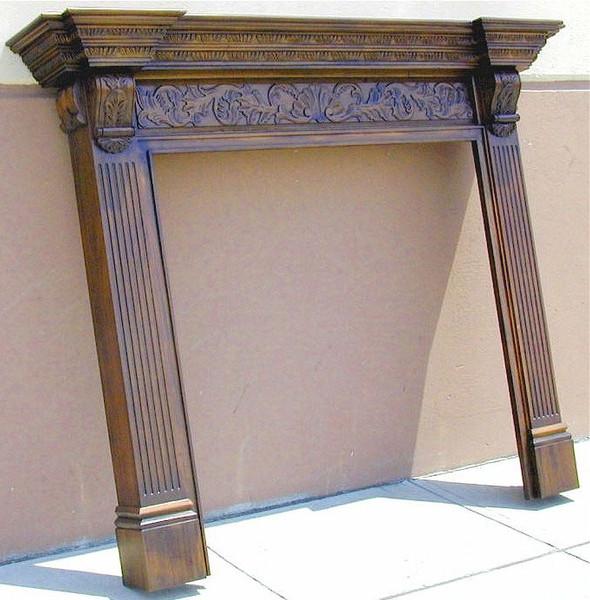 """Large Georgian Fireplace Mantel - 48"""" Opening"""
