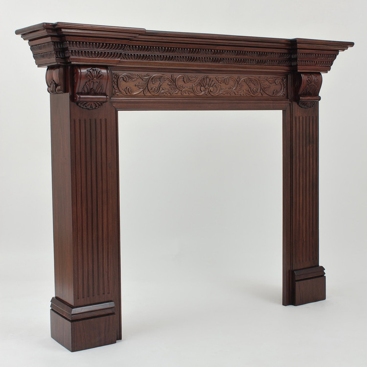 "Small Georgian Fireplace Surround with 36"" Opening"