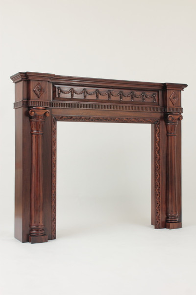 "Mahogany Fireplace Mantel with 36"" x 36"" Opening"