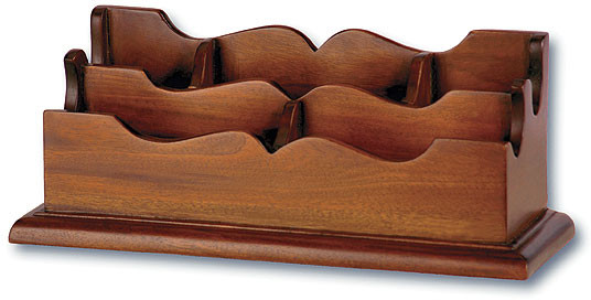 Scalloped Mahogany Desk Organizer