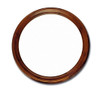 "Brown Mahogany Round Mirror 31.5"" diameter"
