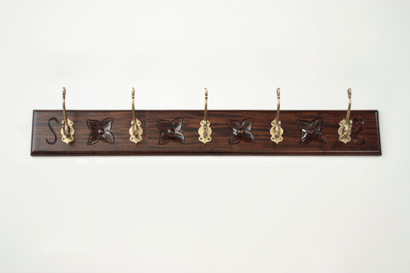 Large Horizontal Wall Coat Rack (5 Hooks)