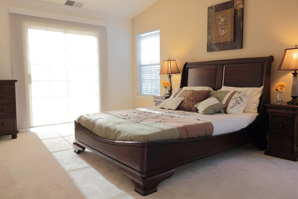 Bedroom with French Sleigh Queen Bed
