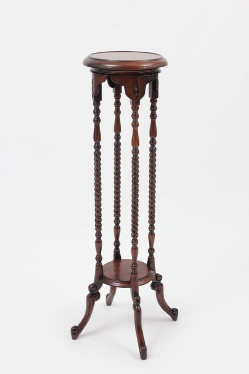 """Victorian Plant Stand (40"""" Tall) in solid mahogany wood by Laurel Crown"""