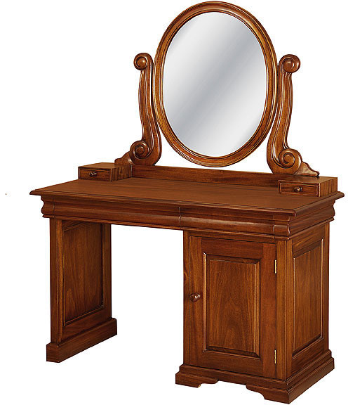 French Sleigh Vanity Dressing Table