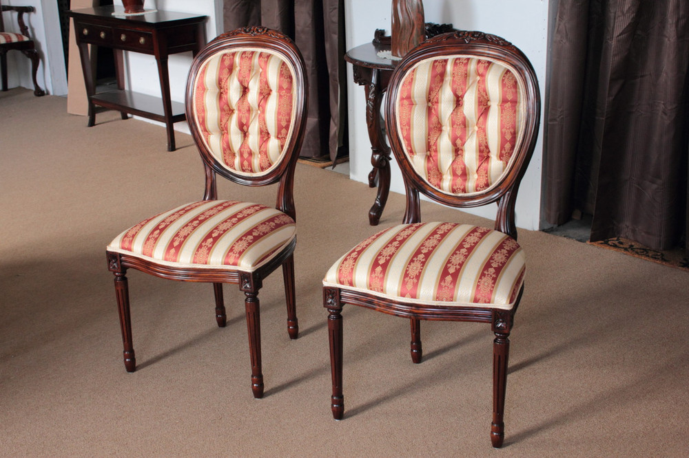Louis XVI Medallion Back Chairs