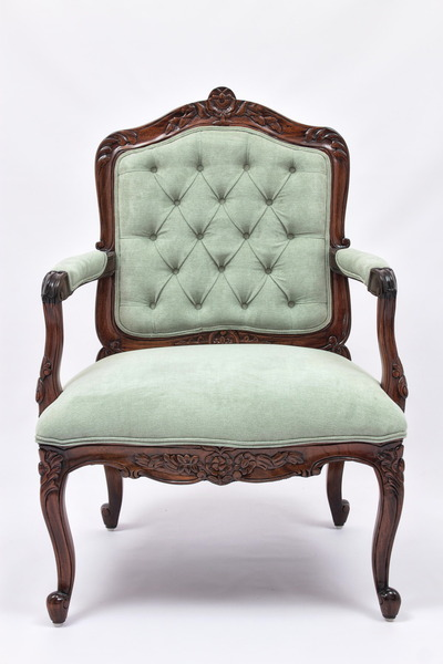 Louis XV Armchair with tufted backrest