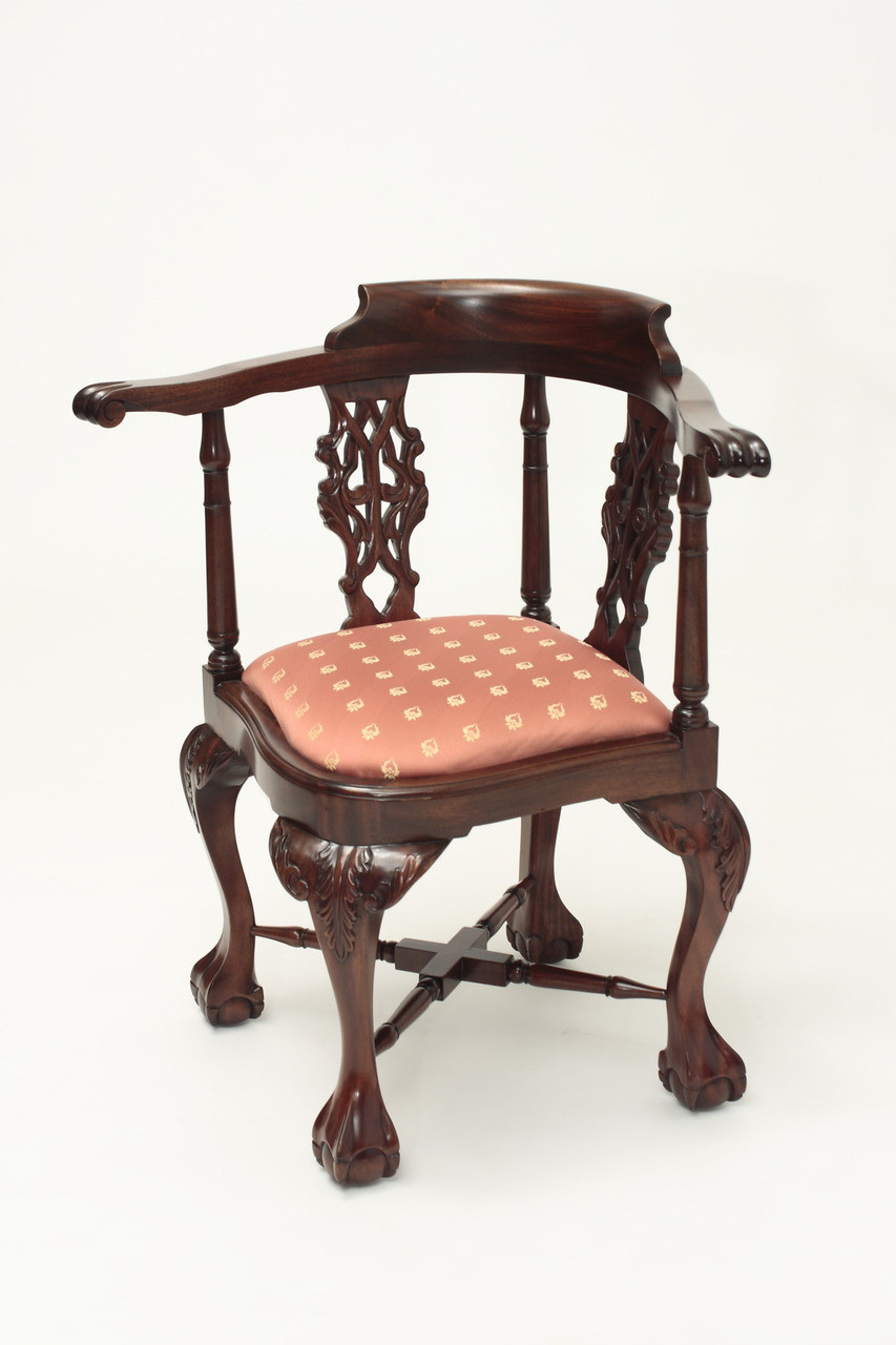 ... Antique Chippendale Corner Chair. Image 1. Image 1 - Antique Chippendale Corner Chair Laurel Crown Furniture