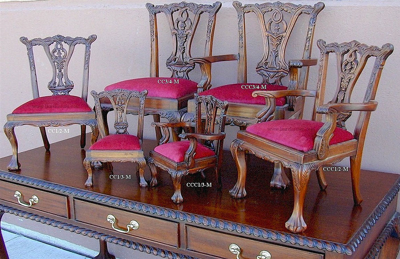 Miniature Chippendale Armchair with Ball and Claw feet – 1/3 Scale