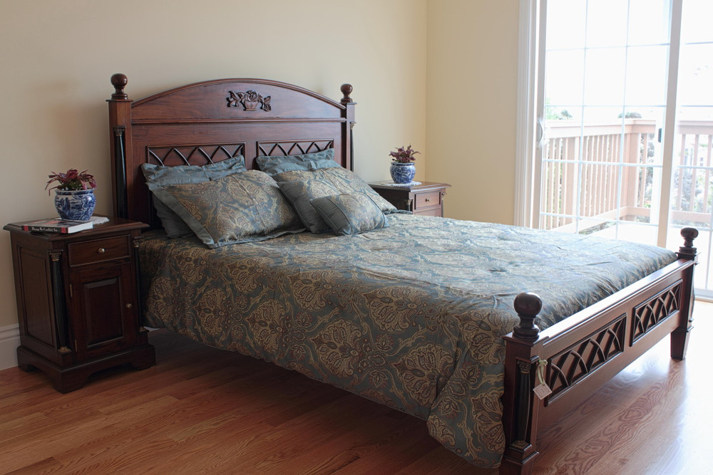 King Size Empire Gothic Revival Bed Laurel Crown Furniture