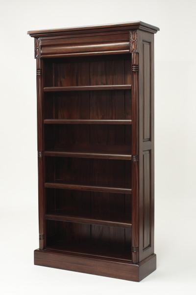 Tall Colonial Mahogany Bookshelf