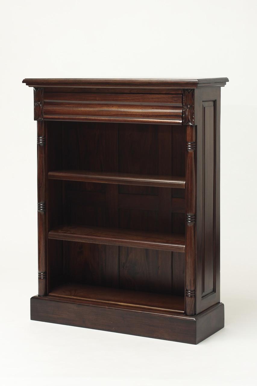 Short Colonial Mahogany Bookshelf