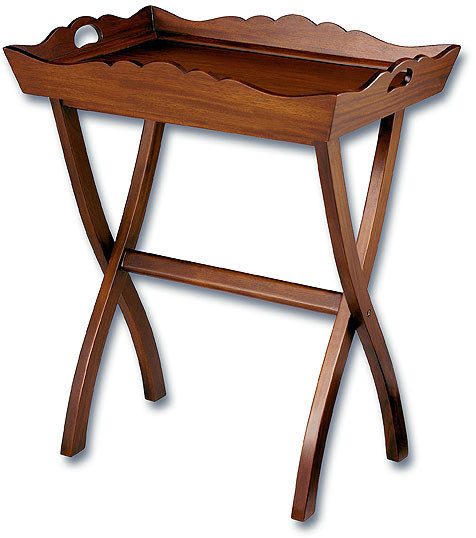 Folding Mahogany Butler Tray Table