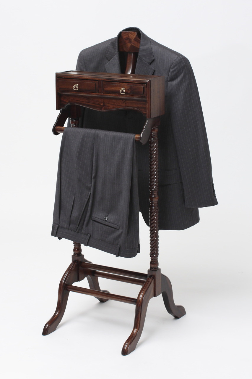 Valet stand by Laurel Crown Furniture made from solid mahogany wood 9a8b0689f2985