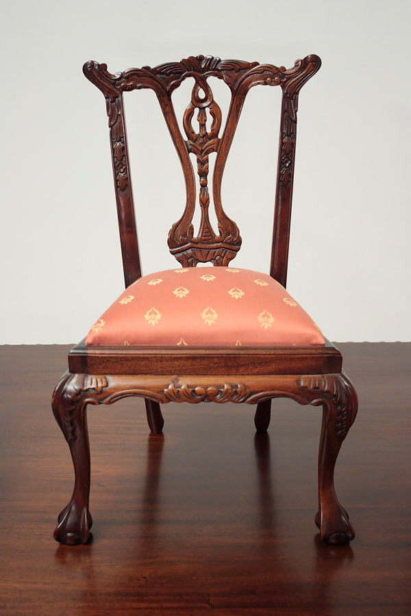 Miniature Chippendale Doll Chair 1 2 Laurel Crown Furniture