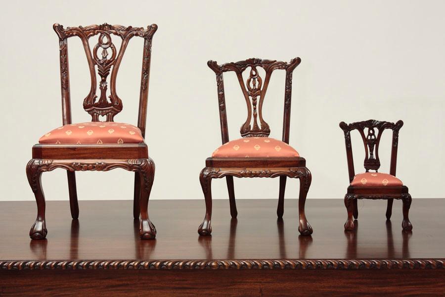 Miniature Chippendale Doll Chair 1/2 - Miniature Chippendale Doll Chair 1/2 Laurel Crown Furniture