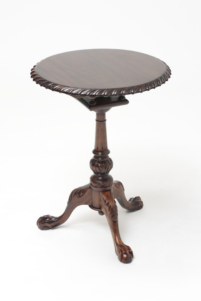 "Chippendale Tilt Top Table - 19.5"" Diameter"