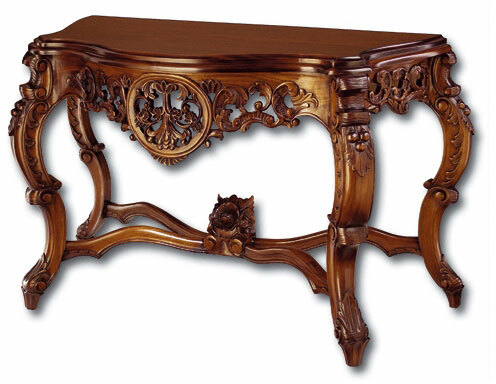Rococo Console Table with Grape Details