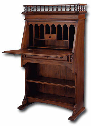Narrow Colonial Drop-Front Secretary Desk