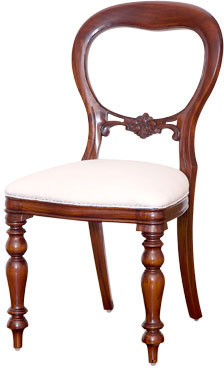 Victorian Balloon-Back Chair