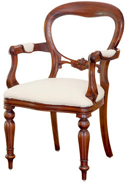 Victorian Balloon-Back Armchair