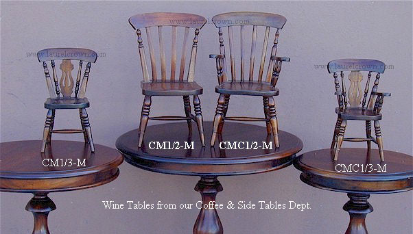 Miniature Windsor Doll Chair - 1/3