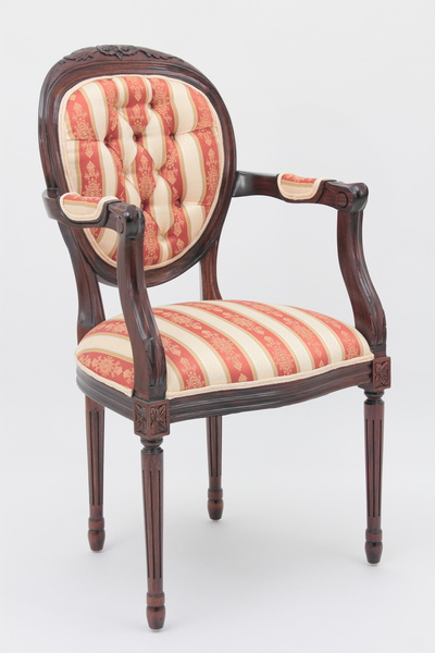 Louis XVI Medallion Back Armchair