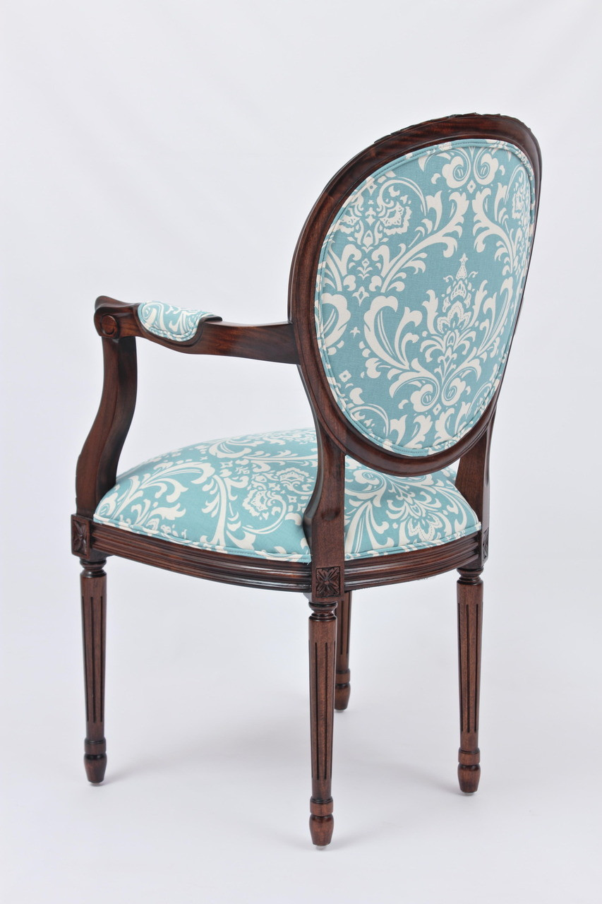 Louis Xvi Medallion Back Armchair Laurel Crown Furniture