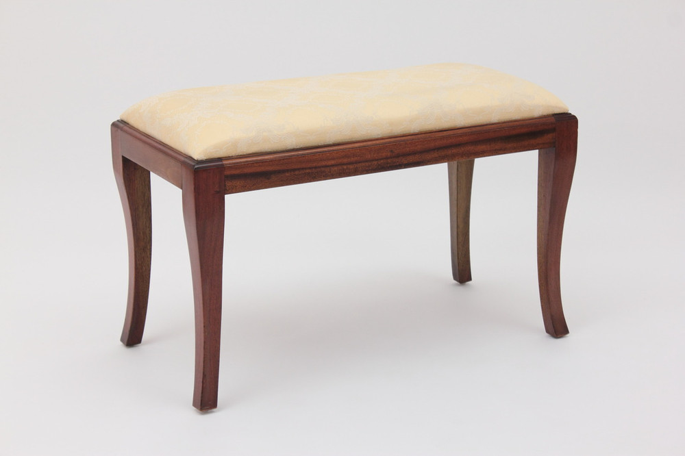 Simple and elegant upholstered bench by Laurel Crown