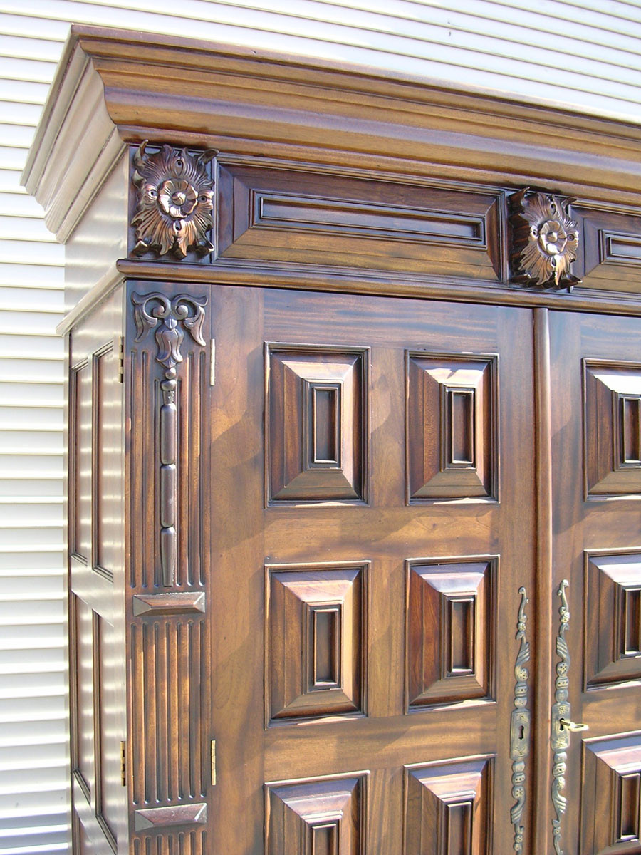 Large Antique Armoire Laurel Crown Furniture