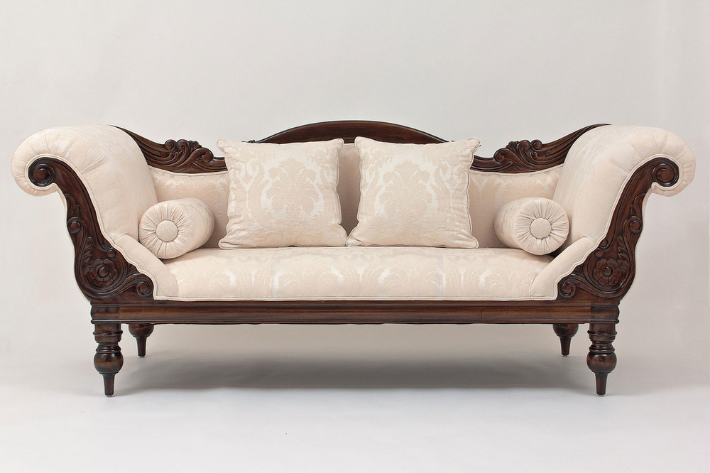 Victorian Campaign Three-Seater Sofa