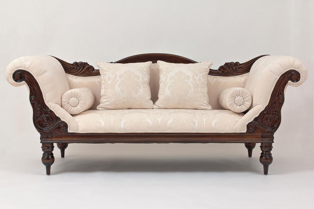 Victorian Campaign Three-Seater Sofa