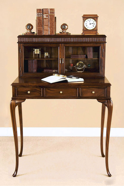 Queen Anne Writing Desk with Cabinets