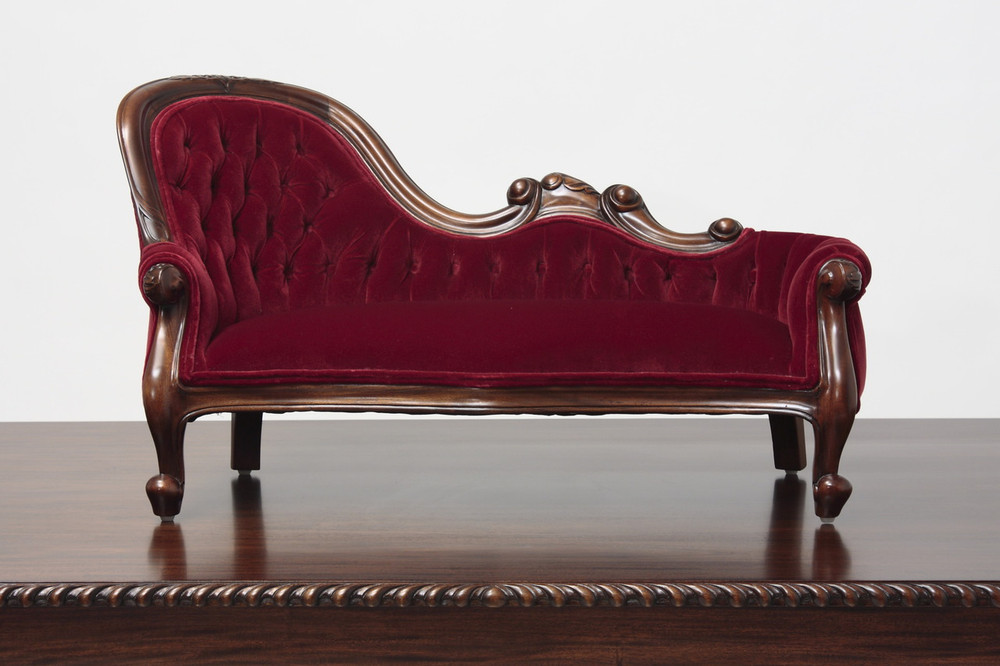 Miniature Victorian Single End Show Frame Sofa Laurel