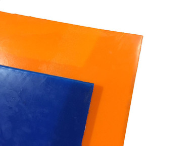 Blue and Orange Urethane Sheets