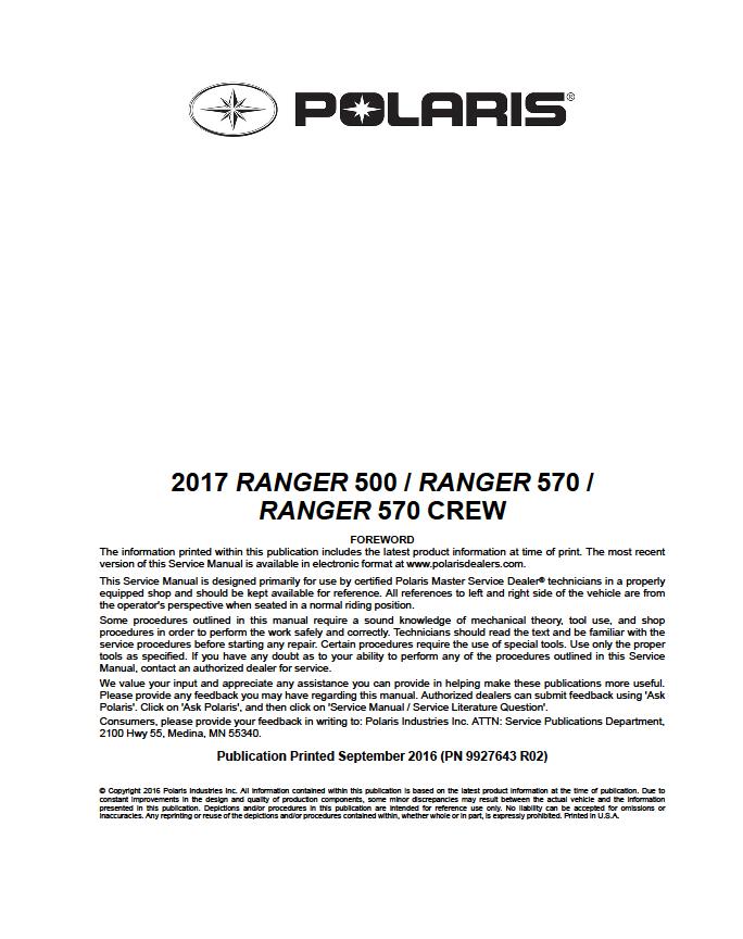 polaris outlaw 50 manual 2013