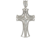 Bright Accented Passion and Pattee Huge Crucifix Pendant (JL#9875)