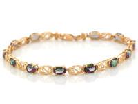 Natural Swirling Filigree Design Ladies Bracelet (JL#6684)
