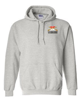 2/17th Cavalry Regiment Embroidered Hooded Sweatshirt
