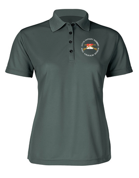 2/17th Cavalry Regiment Ladies Embroidered Moisture Wick Polo Shirt (C)