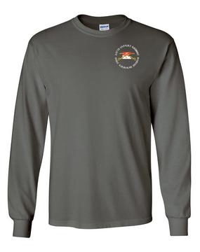 2/17th Cavalry Regiment Long-Sleeve Cotton T-Shirt (C)