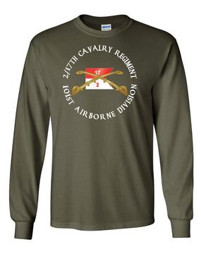 2/17th Cavalry Regiment Long-Sleeve Cotton T-Shirt (C)(FF)