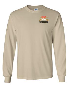 2/17th Cavalry Regiment Long-Sleeve Cotton T-Shirt