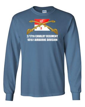 2/17th Cavalry Regiment Long-Sleeve Cotton T-Shirt (FF)