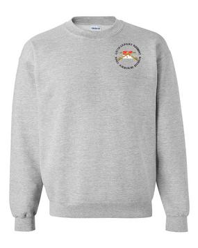 2/17th Cavalry Regiment Embroidered Sweatshirt  (C)